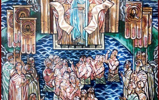 Крещение. 2018 г. Холст, акрил. 120х85 см
