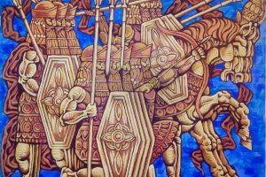 Название: Бой с львами 130х420 Дата создания:10 декабря 2013