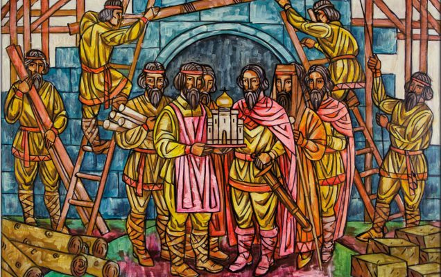 Александр Невский на строительстве храма
