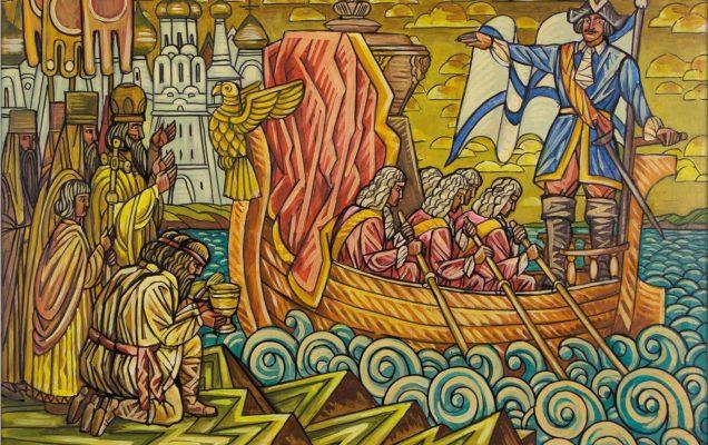 Перенесение мощей святого князя Александра Невского по указу императора Петра I в Санкт-Петербург