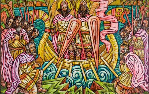 Явление святых князей Бориса и Глеба накануне битвы